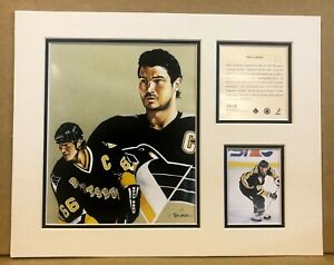 Pittsburgh Penquins Mario Lemieux 1997 Hockey 11x14 MATTTED Kelly Russell Print