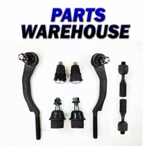 8 Pc Kit Front Upper Ball Joints Outer /& Inner Tie Rod Ends For Envoy Bravada...