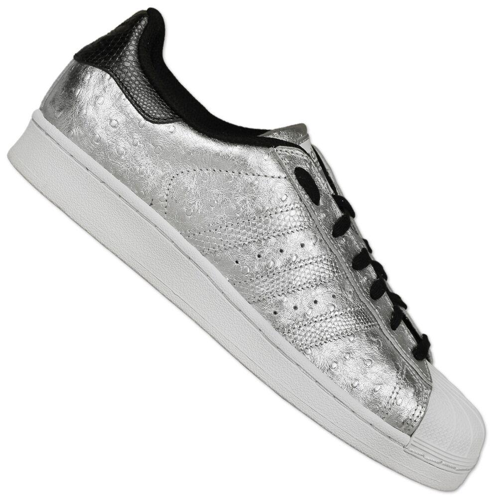 Adidas Originals Superstar baskets II Chaussures Space Argent Métallisé