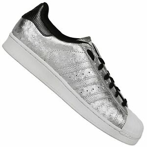 Adidas Originals Superstar Sneakers II Scarpe SPAZIALE ARGENTO METALLIZZATO UK 9