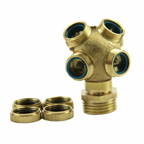 4 Hole Adjustable Brass Spray Misting Nozzle Garden Fi Irrigation C7W9 U9U2