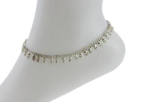 Cadena De Plata Tobillera Tobillo indio Bell Payal Tobillera par de joyas de Bollywood