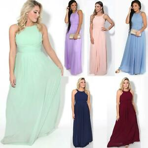 Women-Ladies-Long-Cocktail-Wedding-Bridesmaid-Evening-Maxi-Dress-Formal-Gown