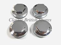 Triumph Chrome Rocker Box Inspection Caps 71-2744 Hex Custom Tr6 T90 T100 T120