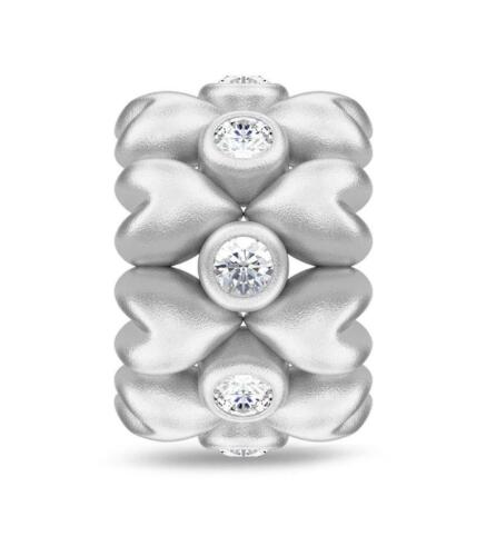 Jennifer Lopez ENDLESS JEWELRY Forever Love Argent Sterling Charme #41410