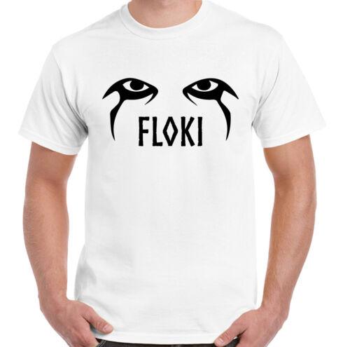 Floki Eyes Mens Funny Vikings T-Shirt The TV Show Programme Ragnar Odin Valhalla