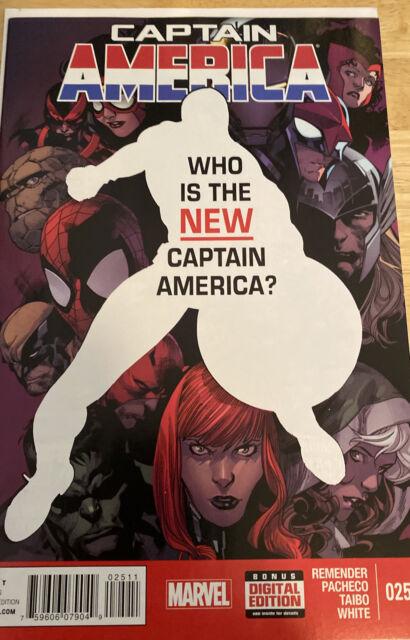 Captain America 25 (2014) 1st Sam Wilson Captain America Red Hot