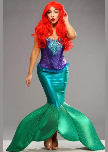 Ladies Deluxe Little Mermaid Style Siren Costume