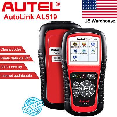Autel AutoLink AL519 OBDII Diagnostic Code Reader Car Fault Scanner Tool EOBD US