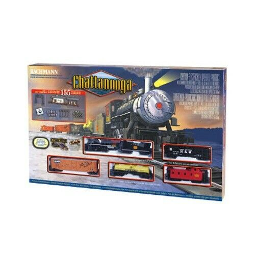 Bachmann 00626 HO Chattanooga Steam Engine Train Set 155 Pieces  Smoke & Light