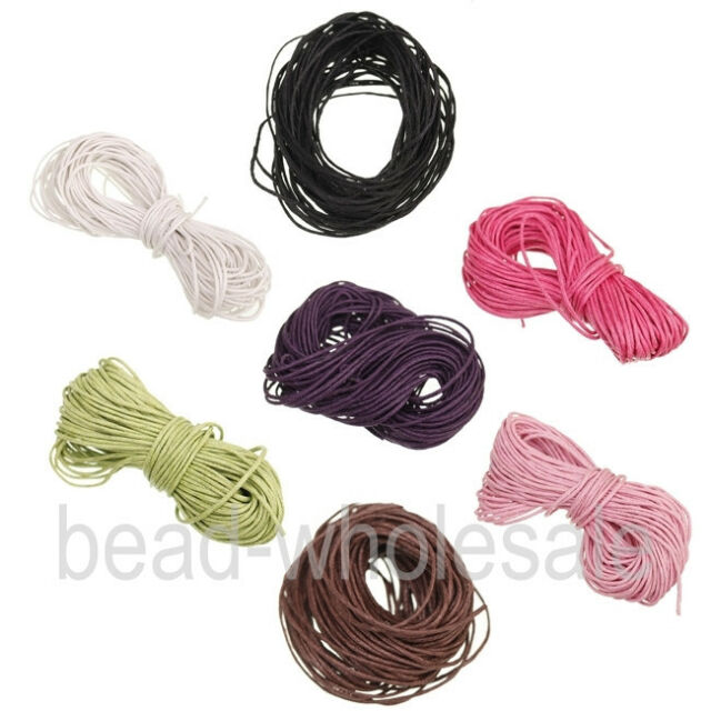 New 10meters Corduroy Rope Thread For Bracelet/Necklace Making 1.0mm 7 Colors