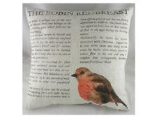 """17"""" ROBIN REDBREAST Cushion - Evans Lichfield Bird DP047"""