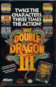 Double Dragon Wall Poster 24 X 36 Inch Vintage Retro Promo Video