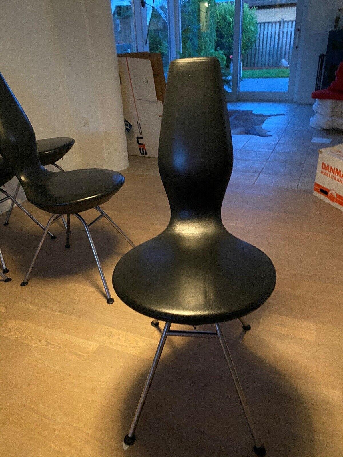 Spisebordsstol, LæderMat Krom,