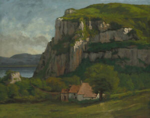 Rock of Hautepierre Gustave Courbet Landscape Painting Print on Canvas Wall Art