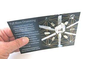 FULL-MOON-DRUMMING-Grid-Card-4x6inch-Harness-Full-Moon-Energy-Balance-Stability