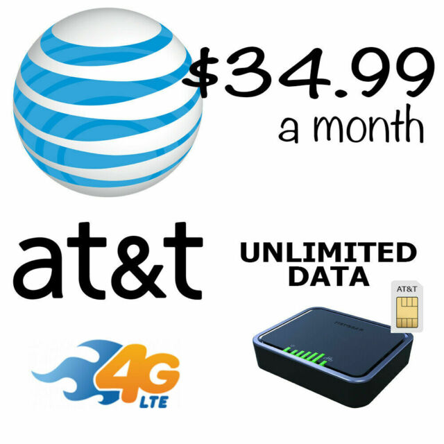 Unlimited internet 4G LTE data plan $34.99 month for rural home or RV's