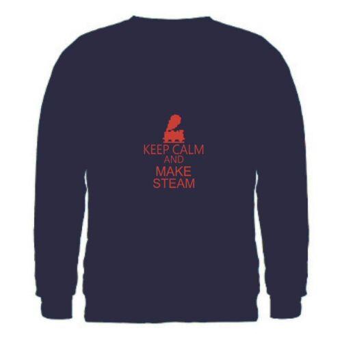 Keep calm and make vapeur Homme Sweatshirt SML-2XL train loco Moteur Traction