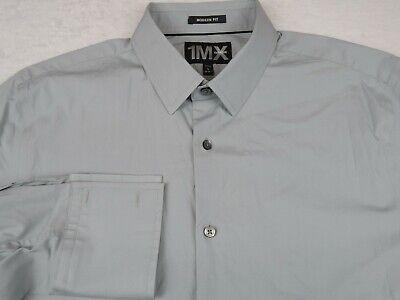 32//33 $59.50 NWT Eagle Men/'s Shirt Button Down L//S Green Sz 15 1//2