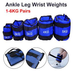 1-6KG-Ankle-Weights-Adjust-Leg-Wrist-Strap-Running-Training-Fitness-Gym-Straps
