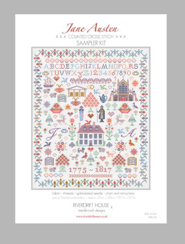 Jane Austen campionatore KIT contato Cross Stitch By riverdrift House