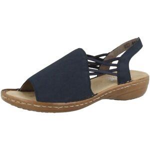 Details zu Rieker 608D1 14 Women Schuhe Damen Antistress Sandalen Freizeit Sandaletten