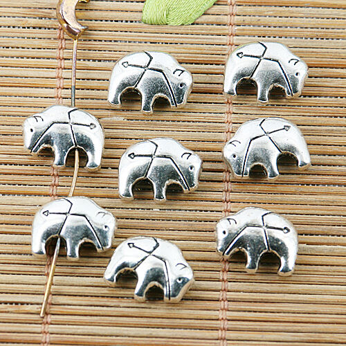 20pcs tibetan silver color 2sided Bison design bead EF2435