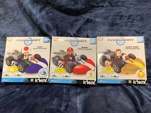 KNEX Mario Kart Wii Mario, Diddy Kong and Toad Kart Building Set Lot Brand NEW
