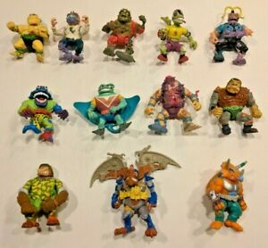 Lot of 12 Teenage Mutant Ninja Turtles TMNT Action Figures Wingnut Ray Fillet