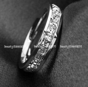 Saint-Valentine-039-s-Day-Genuine-White-Gold-9-ct-simulated-diamond-Ring-size-8