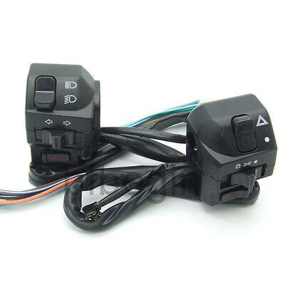 "7/8"" ATV Motorcycle Handlebar Black Horn Turn Signal Electrical 12V Start Switch"