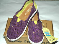 Toms Girl's Classics Purple Two-tone Freetown Shoes Size Youth 1.5