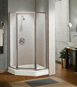 Details About Maax 38 X Silhouette 3 16 Gl Neo Angle Pivot Corner Shower Door
