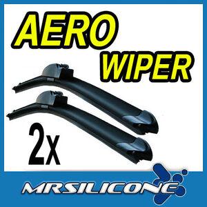 Aero-Front-Flat-Beam-Windscreen-Wiper-Blades-24-034-19-034-Upgrade-Pair-Car