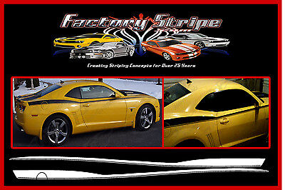 CHEVY CAMARO SIDE HOCKEY THROWBACK WITH OUTLINE FACTORY STRIPE DECAL 2011-2013