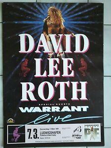 DAVID-LEE-ROTH-1991-LUDWIGSHAFEN-orig-Concert-Poster-Konzert-Plakat-A1-NEU