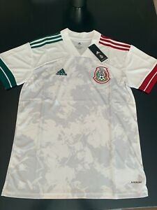 2020-21 Official Mexico Away Jersey - White and Pink