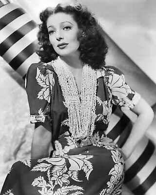 ACTRESS LORETTA YOUNG 8X10 PUBLICITY PHOTO AB968