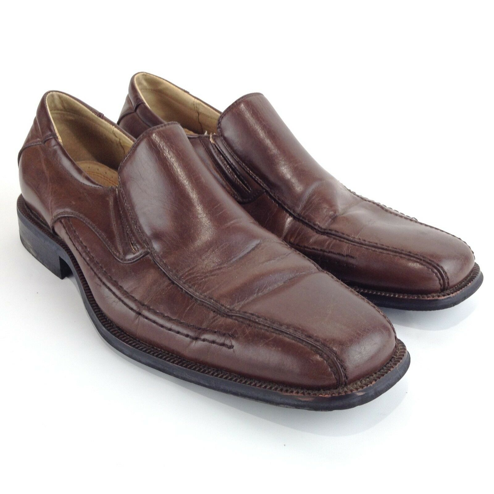 STEVE MADDEN Men's M ROYAL Dress Brown Leather Loafers Casual Dress ROYAL Shoes Size 9.5M 1bf8c2