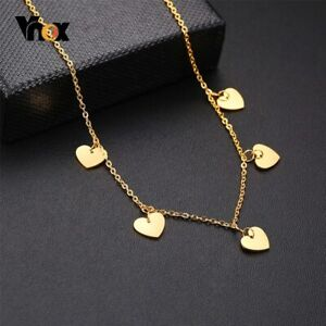 Enamel Heart-Double Sided-Spring Fashion-Lobster Claw Gold Chain Necklace Paperclip Chain Choker-Enamel Heart Charm-Enamel Chain Link