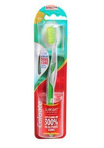 4 Colgate Slim Soft Advanced 0.01mm Ultra Soft Toothbrush Soft ... afaa3b12ca56