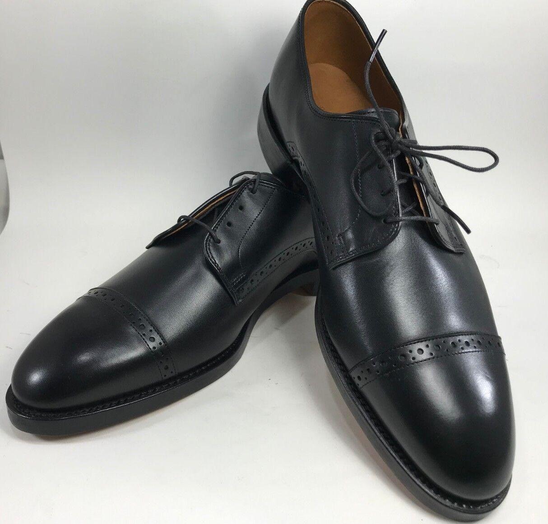 Polo Ralph Lauren-Zapatos de piel de becerro con puntera Slaton-tamaño 11 () - Negro