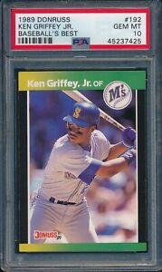 1989-Donruss-Baseball-039-s-Best-Ken-Griffey-Jr-RC-192-PSA-10-MARINERS-GEM-MINT-HOF