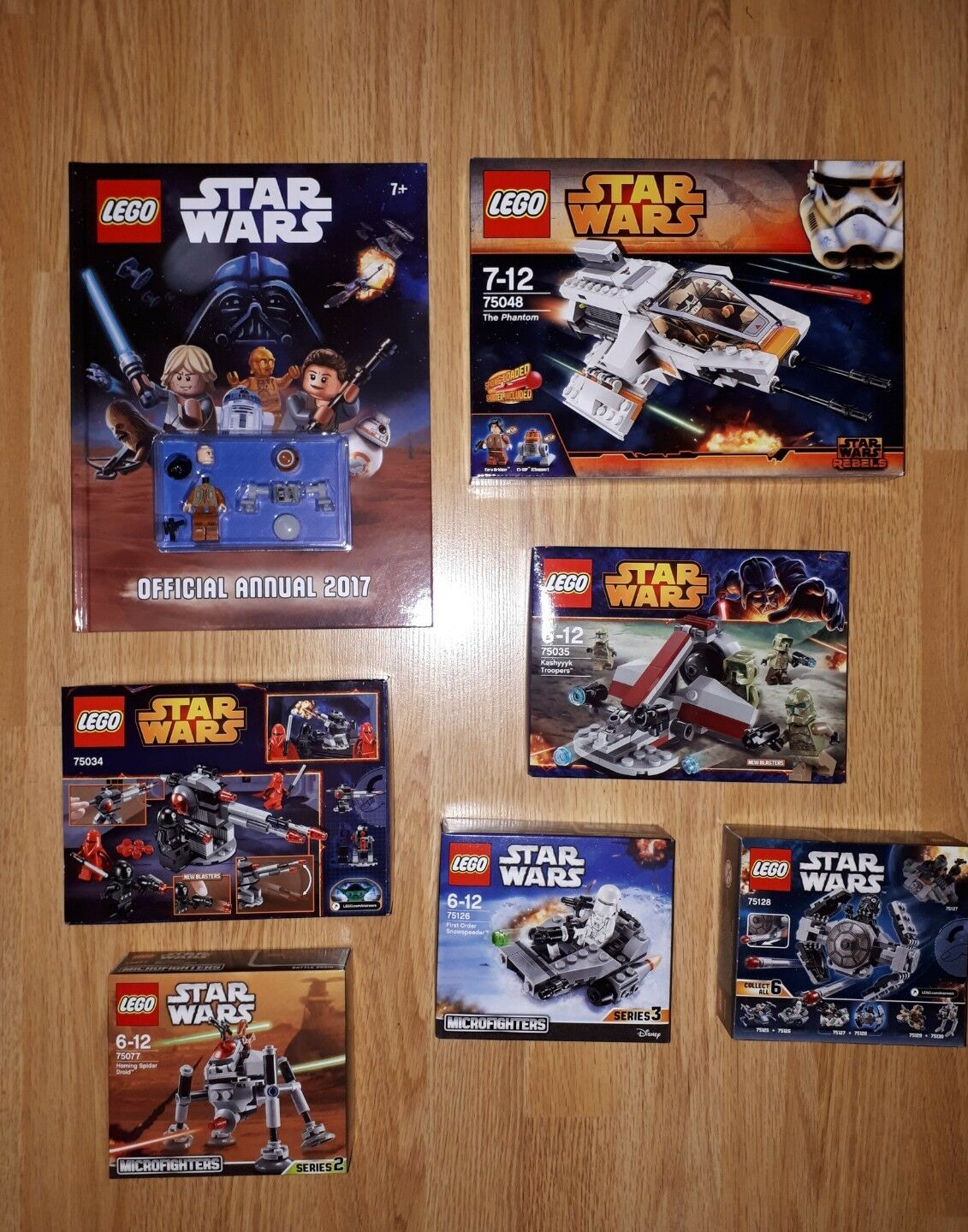 6 x LEGO STAR WARS SETS + 2017 Annual - 75034 - 75035  - 75048 - 75077 - All New