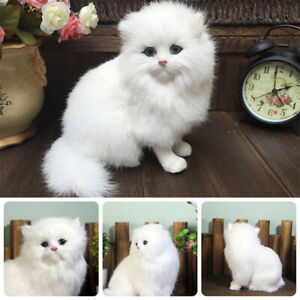Realistic-Persian-Cat-Animals-Models-Stuffed-Plush-Toy-Children-Fluffy-Dolls-NEW