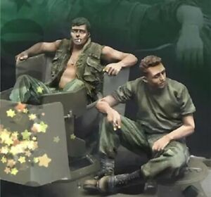 1-35-Resin-Figure-Model-Kit-US-Soldiers-Vietnam-War-Unpainted-Unassambled