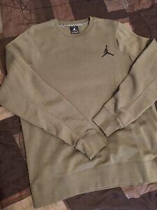 Jordan-Flight-Crew-Neck-Sweater-Army-Grn-Mens-Sz-L-in-Great-Condition
