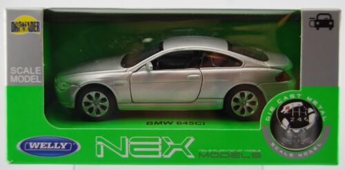 WELLY BMW 645Ci E63 6 SERIES SILVER 1:34 DIE CAST METAL MODEL NEW IN BOX