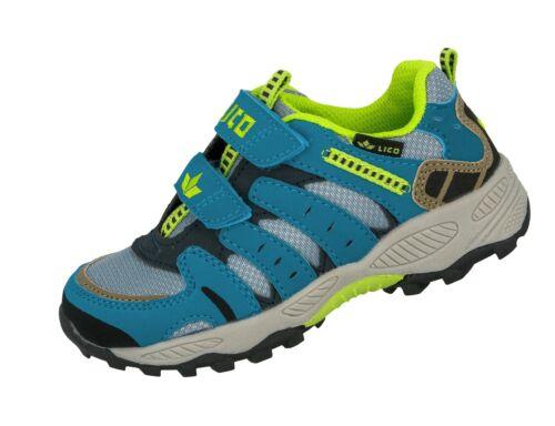 LICO Fremont V Kids Chaussures Enfants outdoorschuhe Velcro Gris//Bleu
