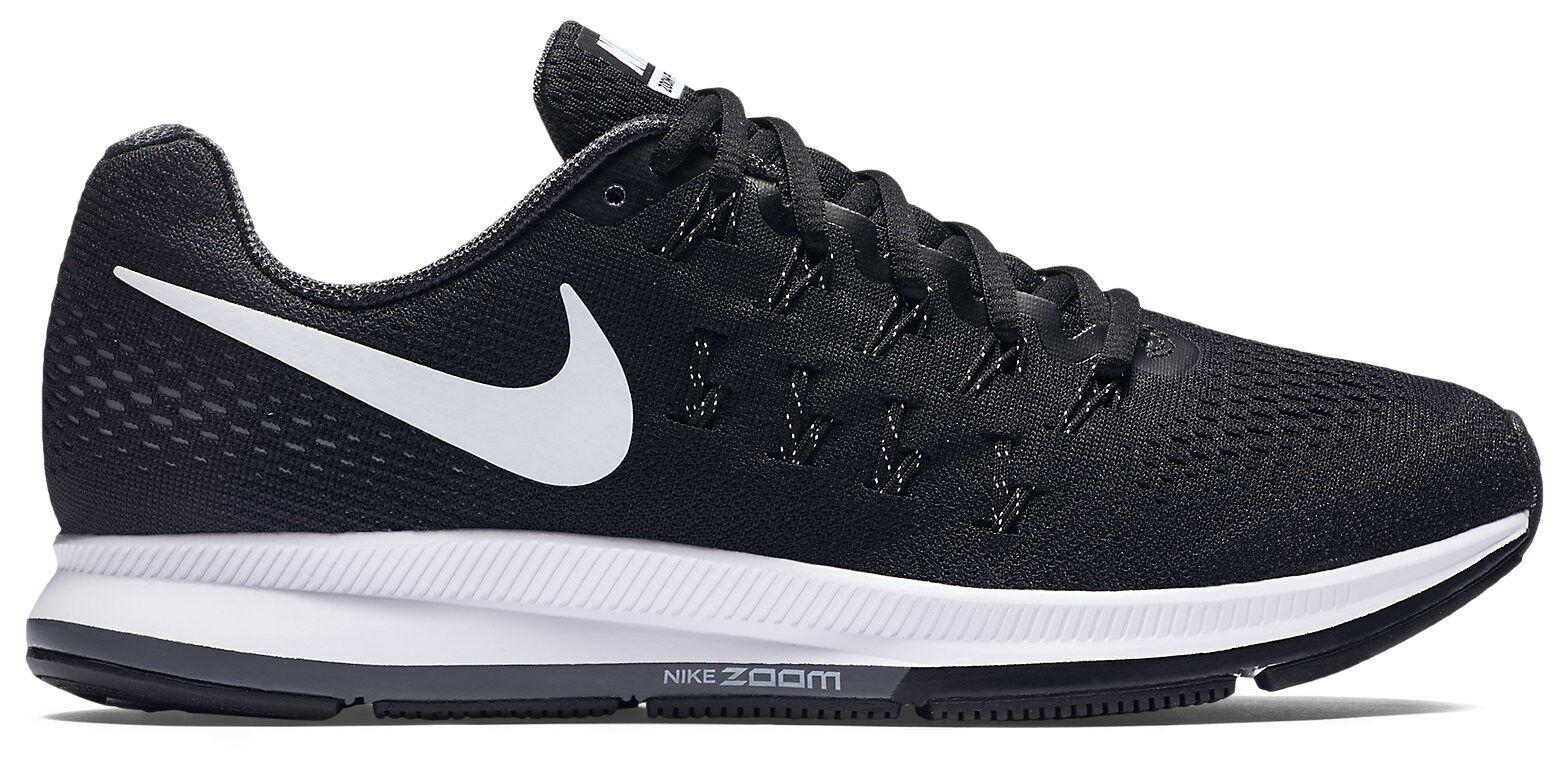 Nes Womens Nike Air Zoom Pegasus 33 Size 12 Black White Running Shoes